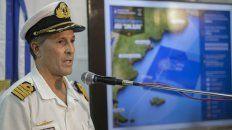 El vocero de la Armada, en conferencia de prensa.