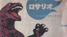 La tapa. Pilo Battagliotti diseñó el arte del disco con una estética bizarra en donde confluye un Godzilla en plan animé amenazando a la ciudad de Rosario.
