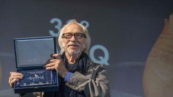 El actor francés, a los 84 años, estuvo en la ciudad balnearia argentina participando del festival internacional de cine.