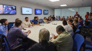 Intercambio. El ministro Pullaro y la comisión de Seguridad del Concejo escucharon a los rosarinos.