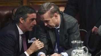 Diferencias. Bullrich y Pichetto mantienen posiciones enfrentadas respecto del pedido de desafuero de CFK.
