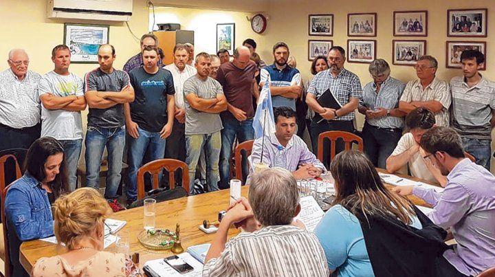 En el Concejo. Los productores del agro se expresaron contra el proyecto de ordenanza sobre fumigaciones.