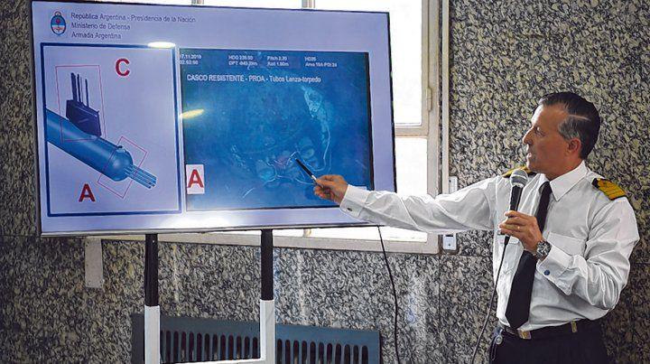 Complicado. La Armada Argentina y otros expertos analizan la posibilidad de reflotar el ARA San Juan.