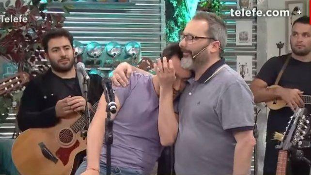 Luciano Pereyra se emocionó hasta las lágrimas estando en vivo en TV