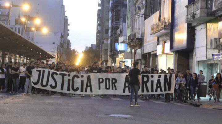 Una de las marchas que se realizaron para pedir justicia por Adrián.