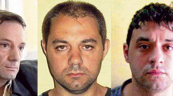 De izquierda a derecha. Martín y Cristian Lanatta y Víctor Schillaci penados por un delito en Santa Fe.