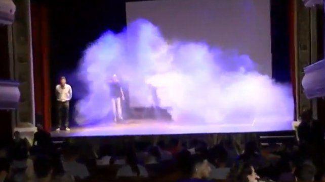 Un simulacro de incendio en el teatro La Comedia acaparó la atención de los vecinos