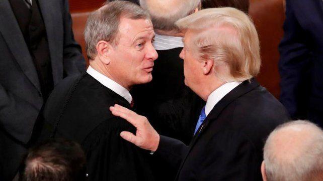 Roberts contradijo la afirmación de Trump  de que los jueces responden a partido del presidente que los nomina.