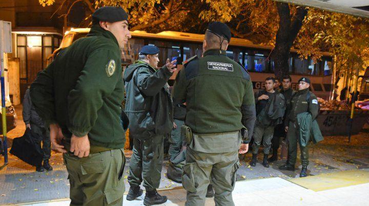 Gendarmes. Este año llegaron refuerzos de agentes federales.