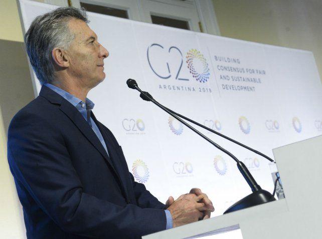 Anfitrión. Macri posicionará al país en el centro de la escena internacional durante el encuentro.