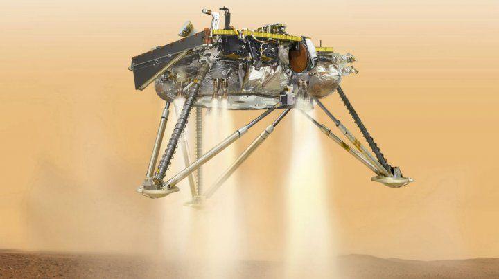 Descenso. Imagen de la NASA sobre lo que debería ocurrir mañana sobre Marte.