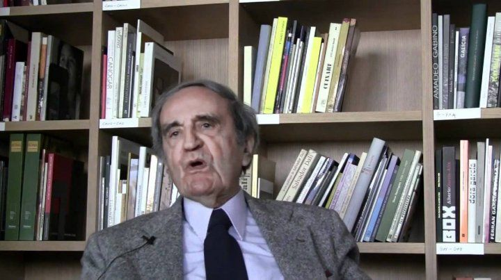 Tomás Maldonado. El creador argentino tenía 96 años y vivía en Italia.