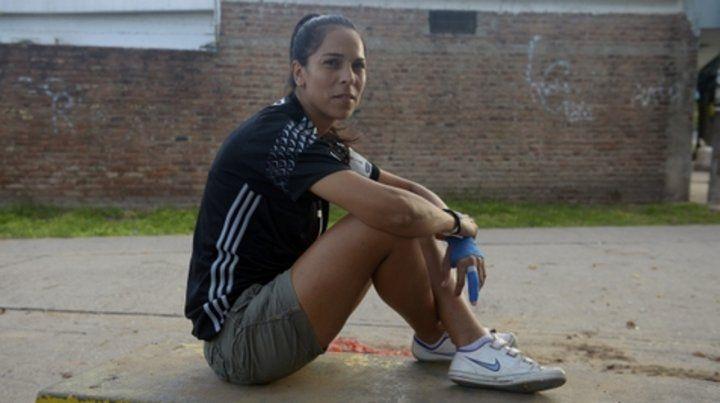 Madrina. La arquera rosarina y de la selección Vanina Correa