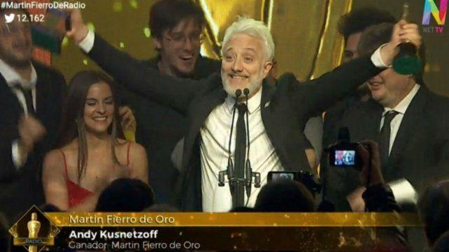 Andy Kusnetzoff se llevó el Martín Fierro de Oro de radio