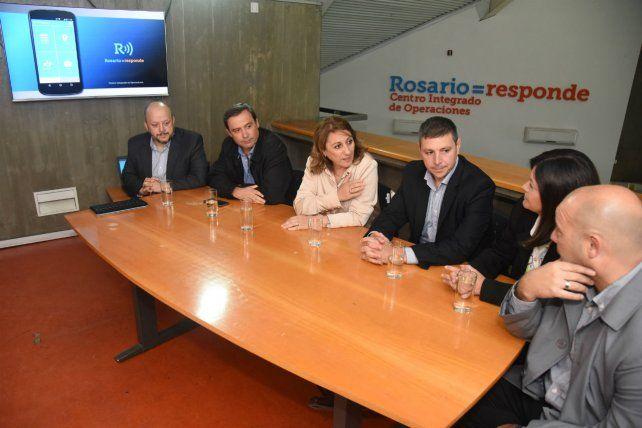 La intendenta participó del lanzamiento de la aplicación móvil en el Centro Integrado de Operaciones.