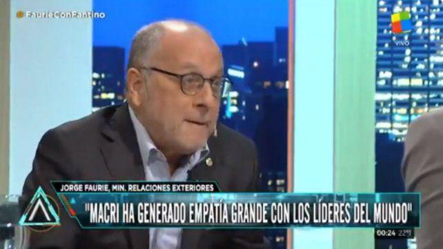 Faurie: Macri ha generado empatía con los principales líderes mundiales