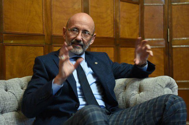 Héctor Floriani, rector de la Universidad Nacional de Rosario.