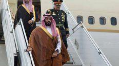 el primero. El príncipe saudita heredero de la corona llegó a la mañana.