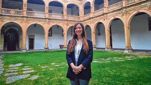 Sol Santos es estudiante de la UNR. Fue seleccionada para la beca internacional