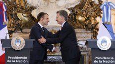 En la previa al inicio formal de la cumbre, Macri se reunió en la Rosada con Emmanuel Macron.