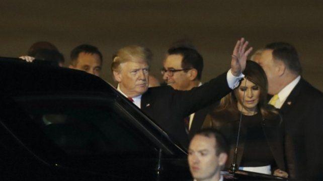 Llegada. Trump llegó por primera vez a la Argentina. Lo esperan reuniones muy duras con Xi Xinping.