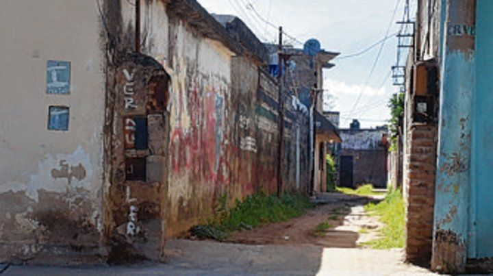 El pasillo en el que vivía Martín.
