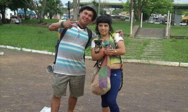 Angel y Bernarda, en otro momento de la relación.