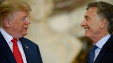 Presidentes. Trump y Macri se muestran alegres y distendidos.
