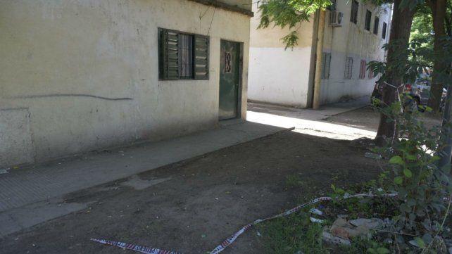 El lugar donde mataron a Nahuel Duarte el jueves pasado.