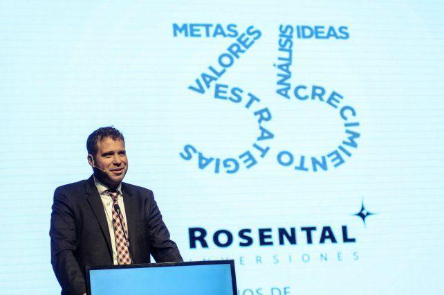 Negocios. El presidente de Rosental Inversiones analizó la situacíón económica.