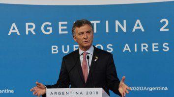 Mauricio Macri, en calidad de anfitrión, fue el encargado de anunciar los consensos en el documento final.