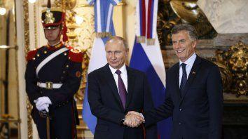 Vladimir Putin y Mauricio Macri mostraron sintonía en los temas debatidos en la cumbre.