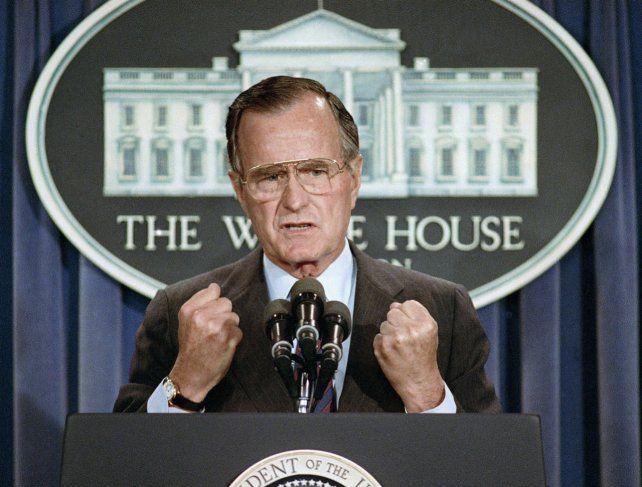 Mandato. Una crisis económica le impidió a Bush ser reelecto.