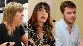Verónica Irizar, María Eugenia Bielsa y Roy López Molina.