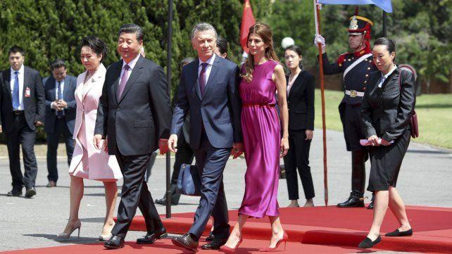 Macri firmó acuerdos comerciales con China en la Quinta de Olivos