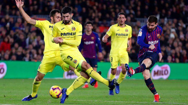 Con una pincelada de magia de Messi, Barcelona derrotó a Villarreal