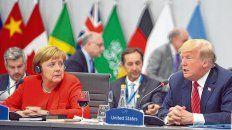 charlemos. Un encuentro bilateral entre Trump y Angela Merkel. Fue el sábado en Buenos Aires.