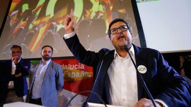 El partido derechista Vox irrumpió con fuerza en el Parlamento andaluz.