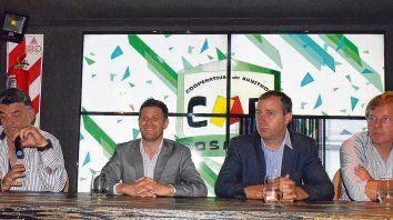 Martín, Kraier, Maio y Boxler, durante la conferencia.