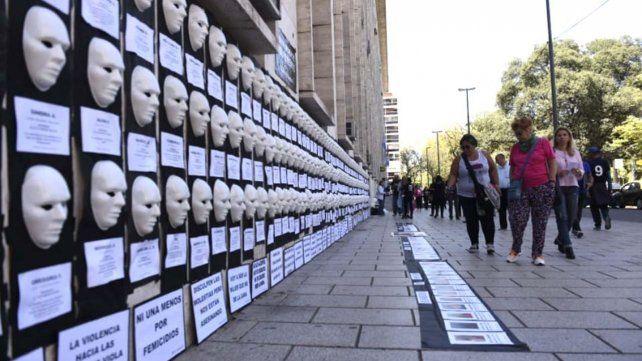 Una intervención en Tribunales por las víctimas de femicidios