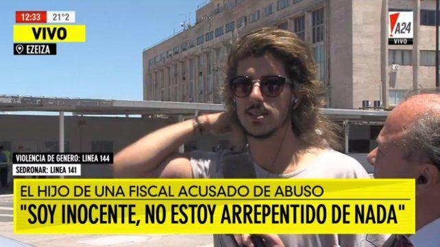 Se quería matar y la salvé, dijo Rodrigo Eguillor y se fue a Madrid