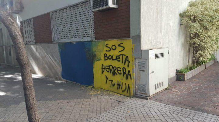 Otra vez aparecieron pintadas contra el Chaqueño Herrera