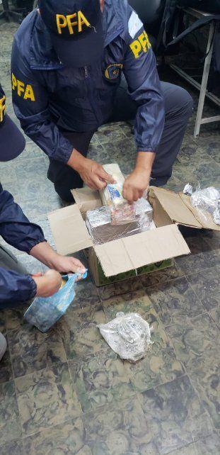 Incautaron diez kilos de marihuana en una encomienda en San Lorenzo