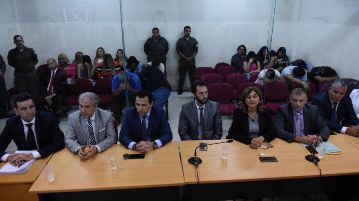 Los abogados defensores de los integrantes de la banda Los Monos.