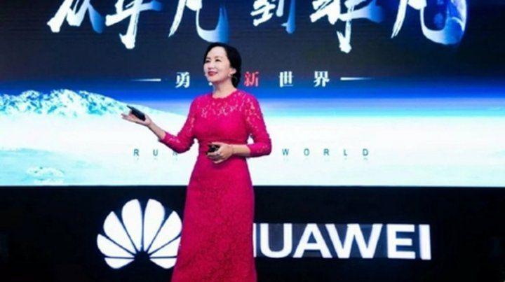 Figura. Meng Wanzhou durante una presentación de productos de Huawei. Su arresto indignó a China.