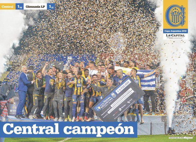 Mañana con La Capital, súper poster de Central campeón de la Copa Argentina