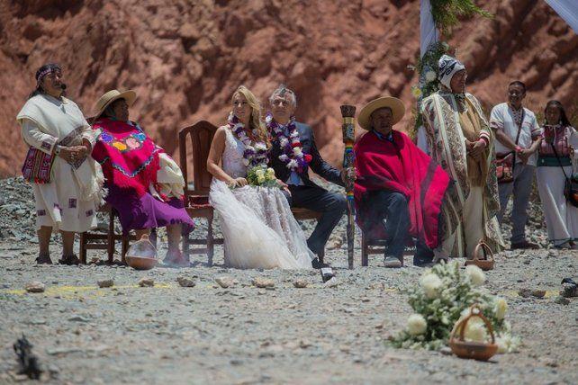 El gobernador de Jujuy se casó en una ceremonia andina