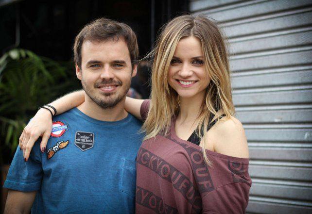 Equipo. Paulo Cancio y Benjamín Rojas junto al director Mordkowicz durante el rodaje.