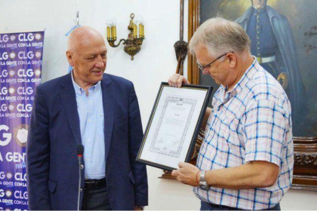 El diputado Antonio Bonfatti y el líder de Luz y Fuerza