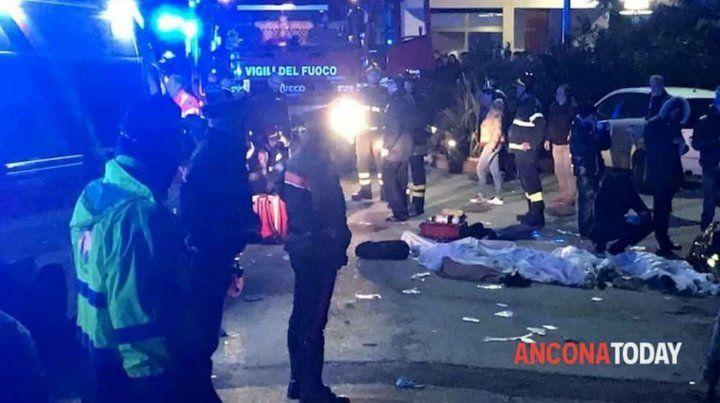 Imagen de TV. Los primeros registros de las víctimas.